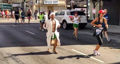 Marbathon, a.k.a. bathrobe marathon