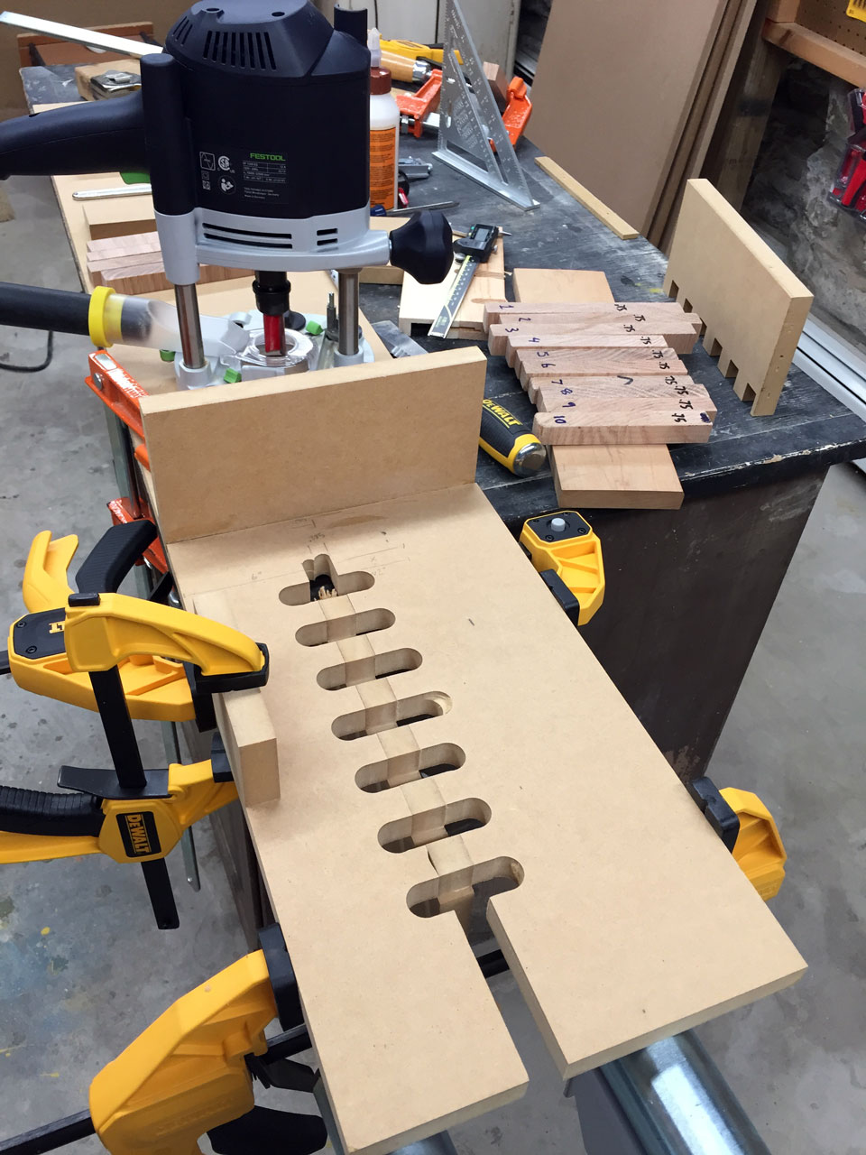 Home-made MDF finger joint jig