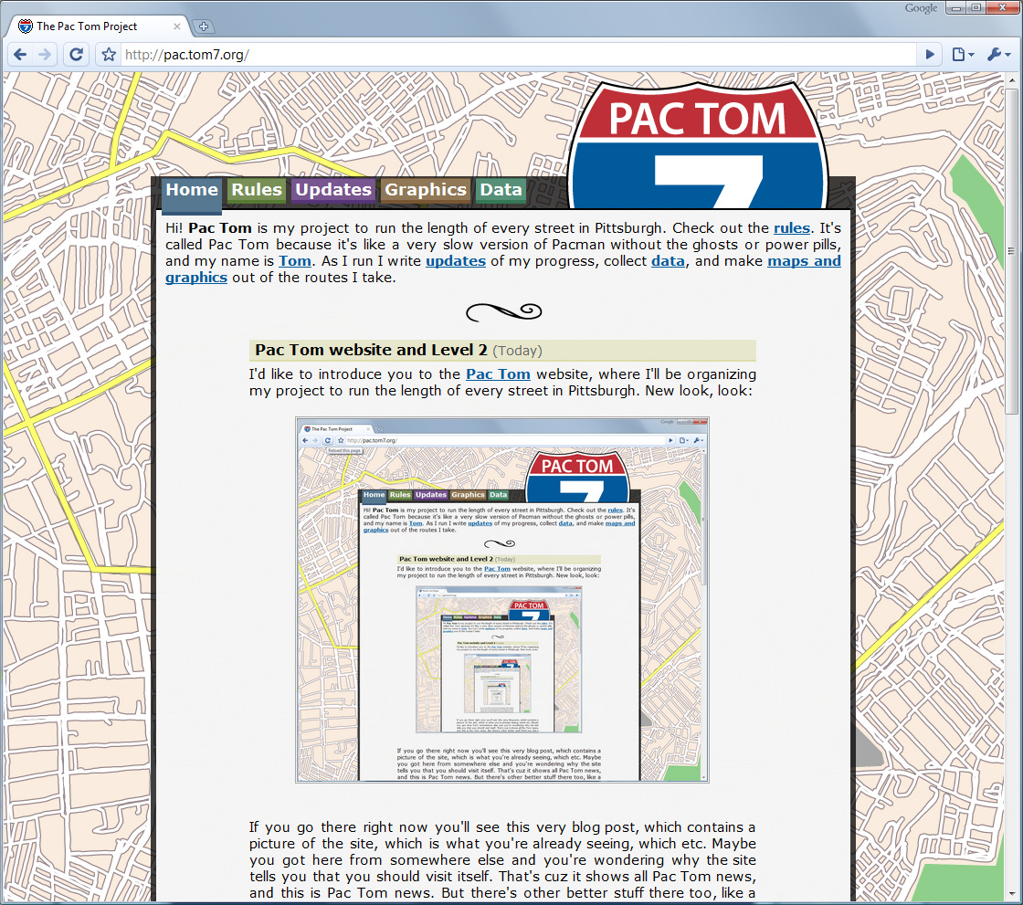 Pac Tom site screenshot