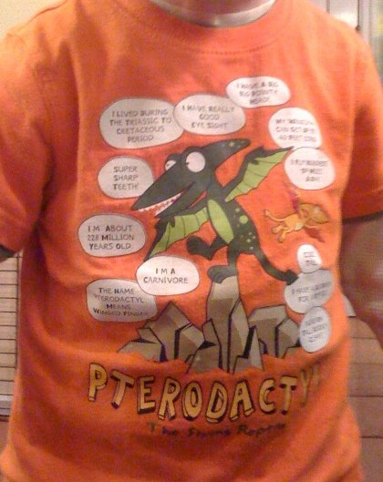 Pterodactyl shirt with Action Jackson